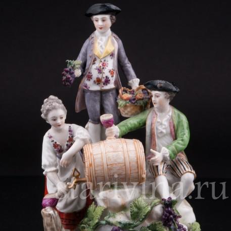 Фарфоровая композиция Праздник вина, Volkstedt, Германия, кон. 19 в.