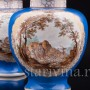 Парные фарфоровые вазы Сцены охоты, Helena Wolfsohn, Германия, 1875-83 гг.