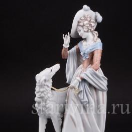 Фарфоровая статуэтка Дама с борзой, Rosenthal, Германия, 1938 год.