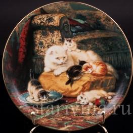 Декоративная фарфоровая тарелка Мечтания, W. J. George, Великобритания, 1991 г.
